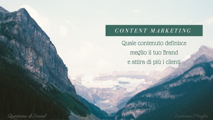 contenuto definisce brand