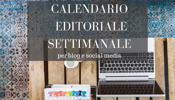 Calendario editoriale settimanale titolo